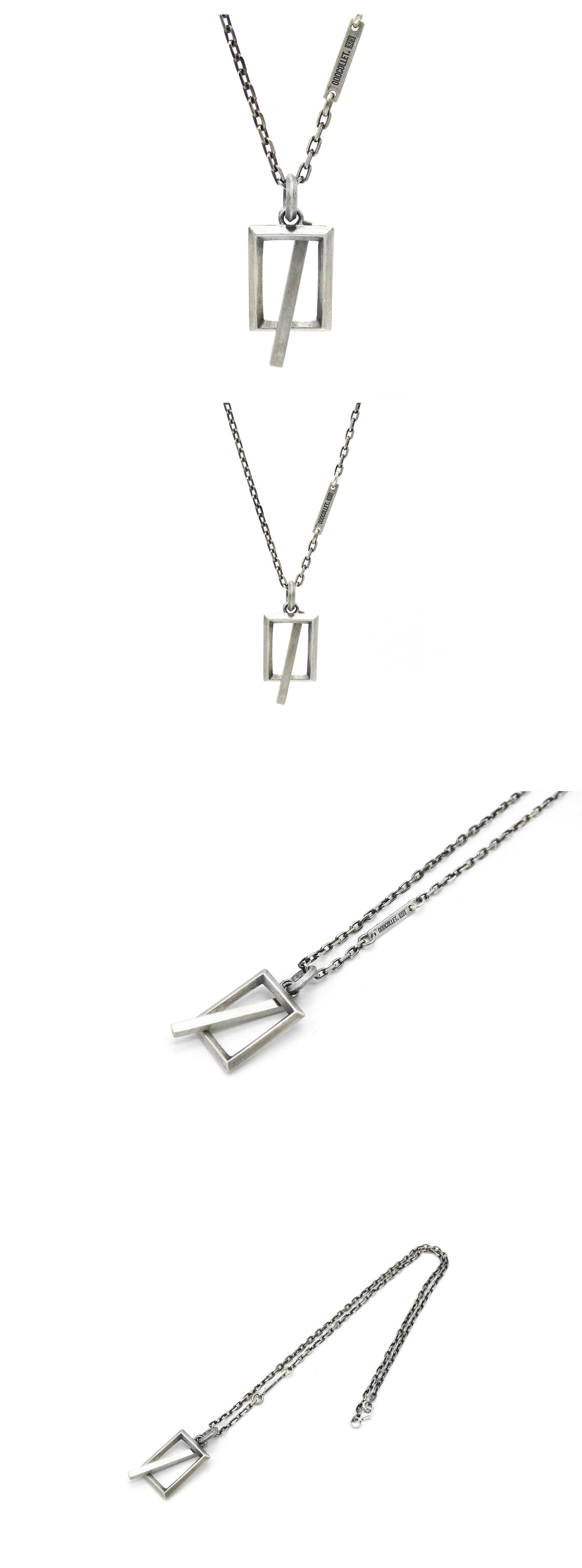오드콜렛(ODDCOLLET) frame necklace
